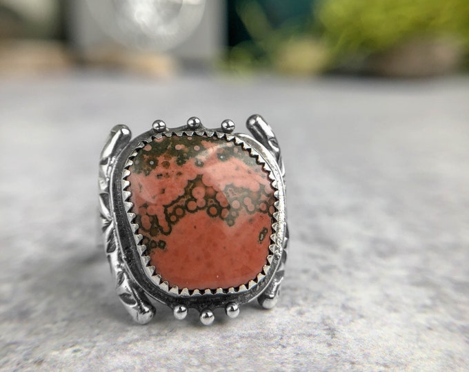 Ocean Jasper Statement Ring