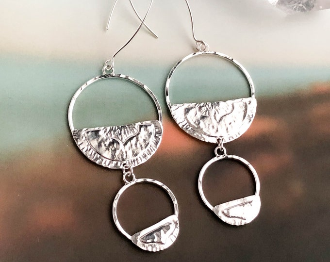 Silver Statement Dangle Earrings