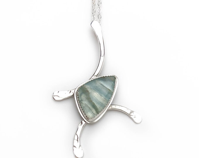 Blue Calcite Pendant Necklace