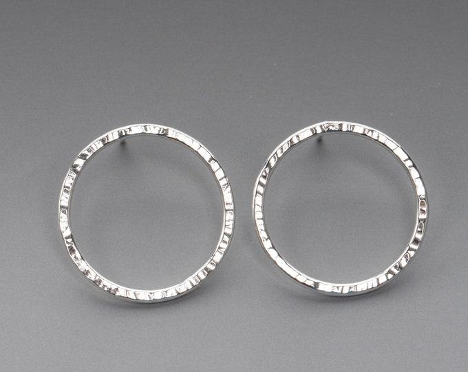 Open Circle Stud Earrings