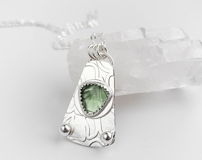 Moldavite Long Necklace