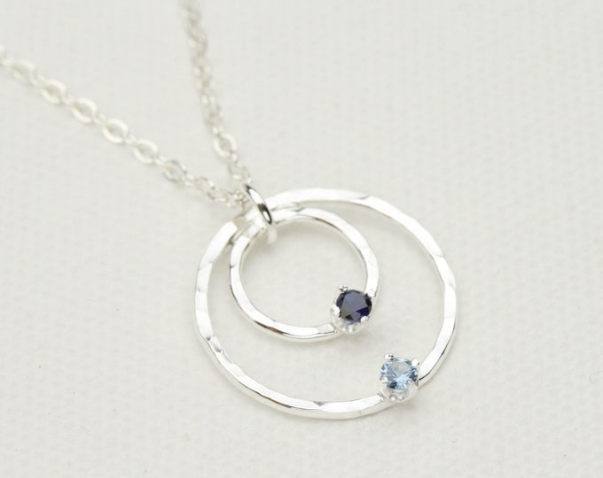 2 Stone Birthstone Necklace