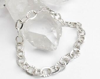 Handmade Stamped Chain Bracelet