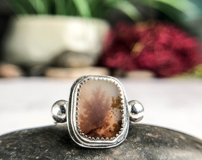 Dendritic Agate Size 9 Ring