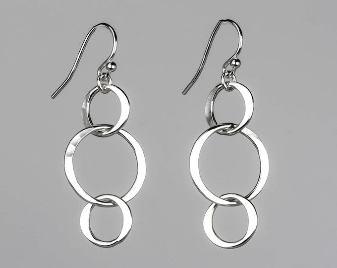 Silver Circle Dangles