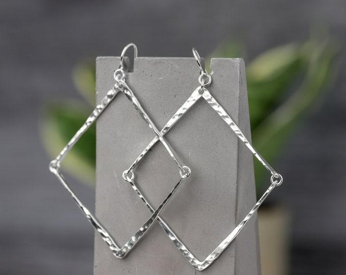 Diamond Shaped statement Earrings