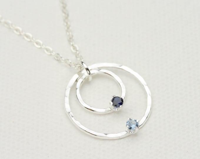 2 Stone Birthstone Necklace