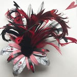Queen of Hearts Playing Card Flower Hair Pin/Clip Corsage Hair Flower