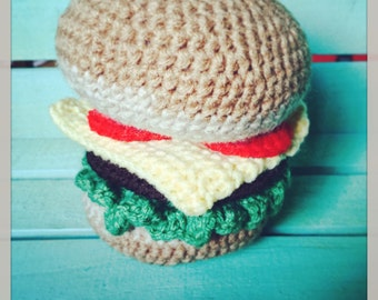 Crocheted Hamburger Toy