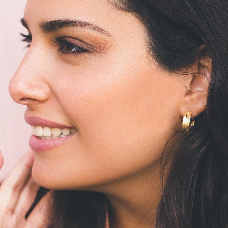 655cf28312dd7 Gold hoop earrings