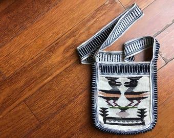 Guatemalan Aztec Purse Southwestern Mexican Shoulder Crossbody Bag Ethnic Tapestry Woven Festival Boho Hippie Zipper Tote Small Bag