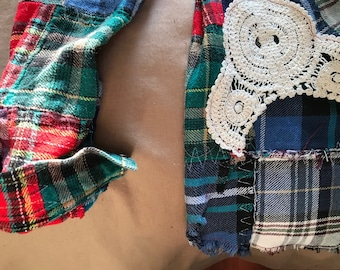 Handmade Patchwork Flannel One of a Kind Small Medium