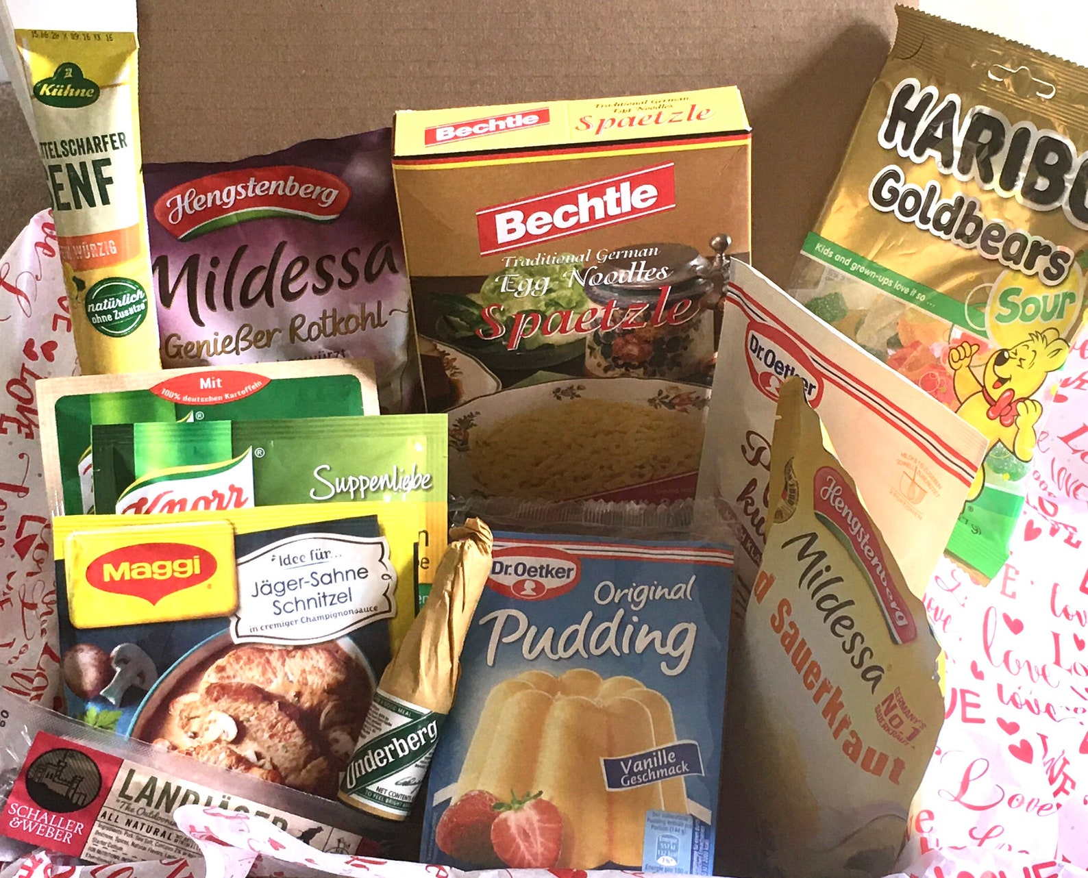 German Food Package with German Authentic Foodies Made in Germany