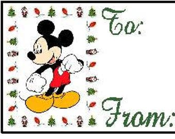 Mickey Mouse Christmas Gift Tags