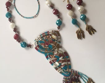 Turquoise Splendor necklace and earrings