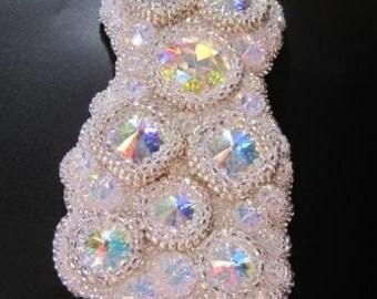 DIVA DELIGHT  Beaded Swarovski Cuff Bracelet