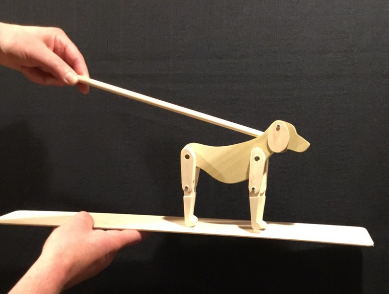 Limberjack Dog with dancing board and stick image 0
