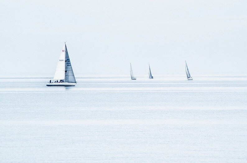 The Four Boats   Greenwich CT  Fine Art Sailing Photograph image 0