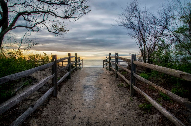 A Walk to the Beach  Tod's Point Greenwich CT   Fine image 0