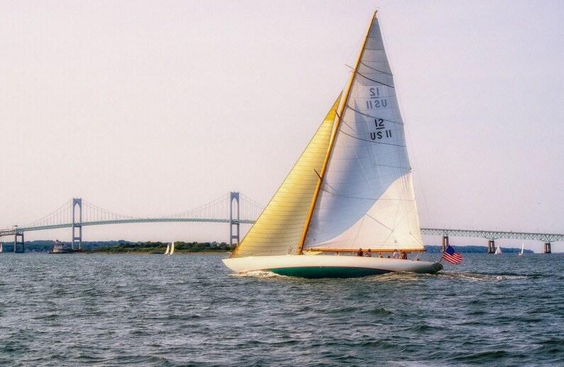Gleam  Newport Rhode Island  Fine Art Sailing Photograph image 0