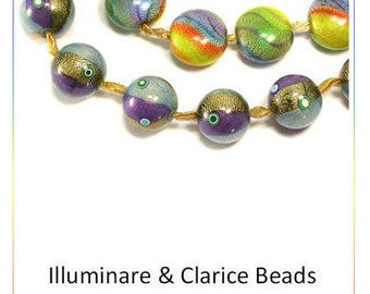 Polymer Clay Beadmaking Tutorial by Emma Ralph - Illuminare & Clarice Art Beads e-Book - 2 FULL Step by Step Projects and More