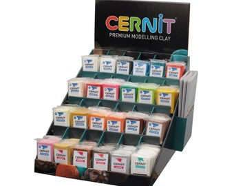 Cernit Polymer Clay -  Modelling Clay in Your Choice of Colours or Random Mix. 12 x 56g Packs of Number One Range Oven Bake Clay UK Supplier