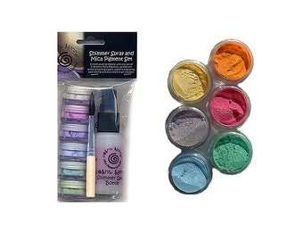 Mica Powder Kit  - Cosmic Shimmer Mica Powder Spray Kit  - Sparkly Decoration for Polymer Clay, Paper Crafts, Nail Art etc