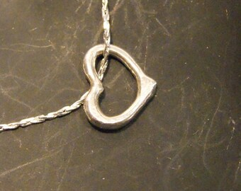 Fine Silver Floating Heart Charm