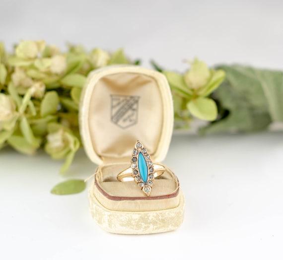 Antique Victorian Turquoise Ring | Antique  14k go