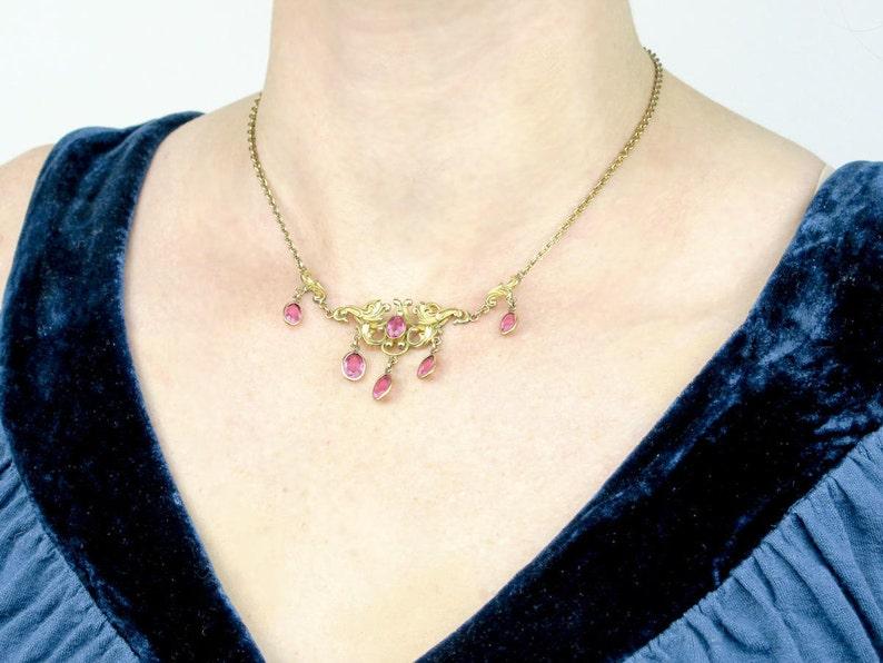 Antique Gold Necklace Festoon Necklace Vintage Antique Gold Edwardian Necklace Antique Necklace