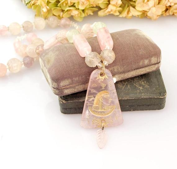 Czech 1920s Egyptian Revival Necklace | Art Deco N