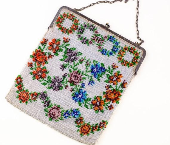 Antique Beaded Purse | Microbead Purse | 1920s Han