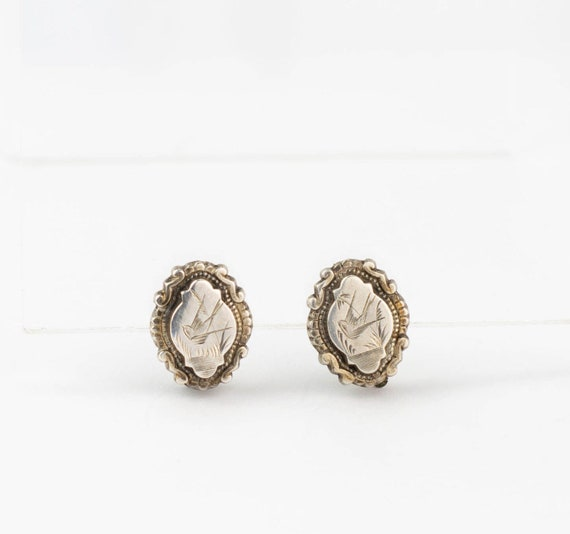 Silver Bird Antique Victorian Earrings | Antique S