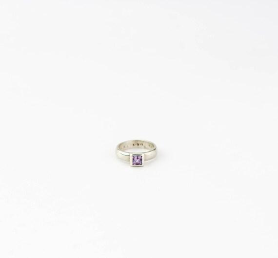 Vintage Amethyst Ring | Vintage sterling silver Am