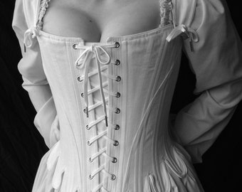 36ca263fcd 18th Century Marie Antoinette Corset Stays with front and back lacing  Historical Undergarment Straps