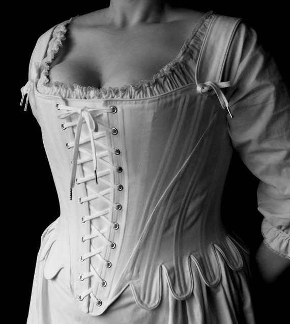 18th Century Stays Marie Antoinette Corset With Front And