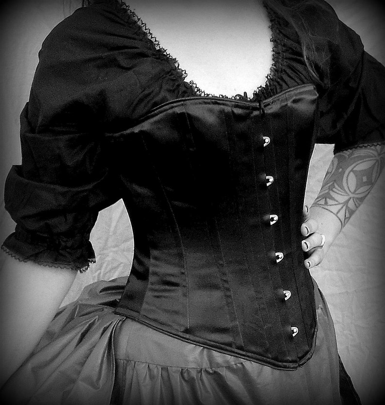 f6d4e5df7 Gothic Witch Victorian Corset Front Opening Busk c.1860 in