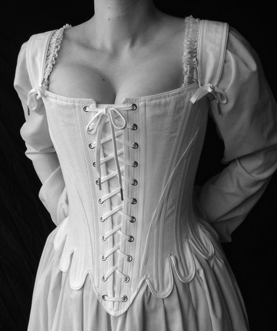 most popular save up to 60% stylish design 18th Century Marie Antoinette Corset Stays with front and back lacing  Historical Undergarment Straps, made to measure, as seen on Salem