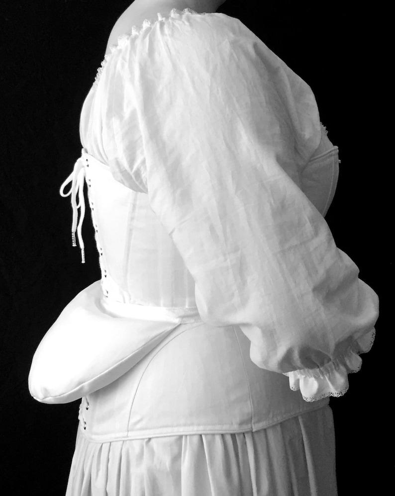 Victorian Bustle Pad 19th c  Historic Underwear, Reenactment Cosplay  Historical Costume Undergarment
