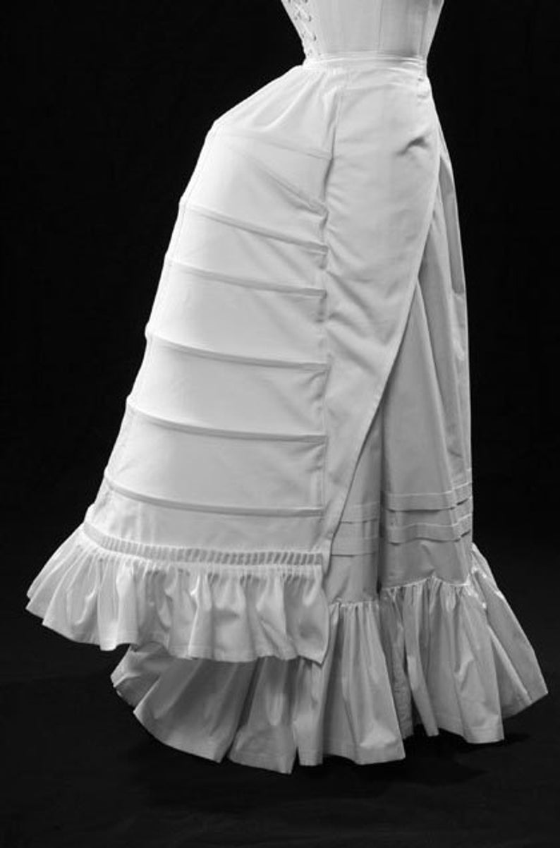 Victorian Lingerie – Underwear, Petticoat, Bloomers, Chemise Late 19th c. Bustle small-2XL Victorian steel boned skirt support costume cosplay reenactment steampunk cage $414.00 AT vintagedancer.com