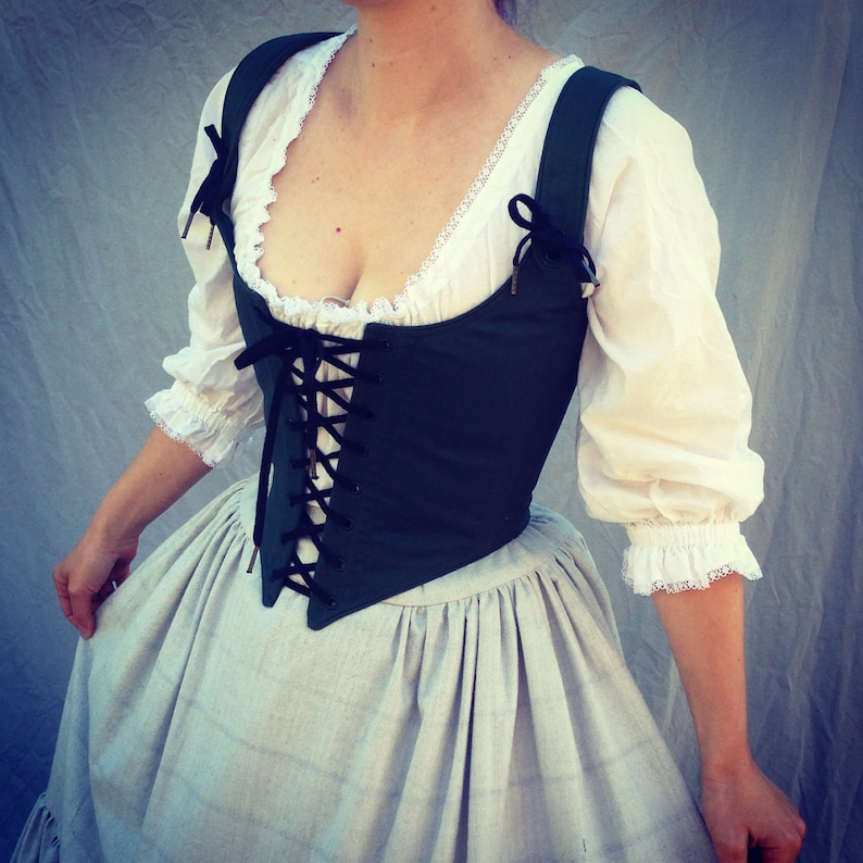Renaissance Festival Corset Bodice-your choice any color front and back lacing Ren Faire Costume Wench Bodice made to measure in custom size
