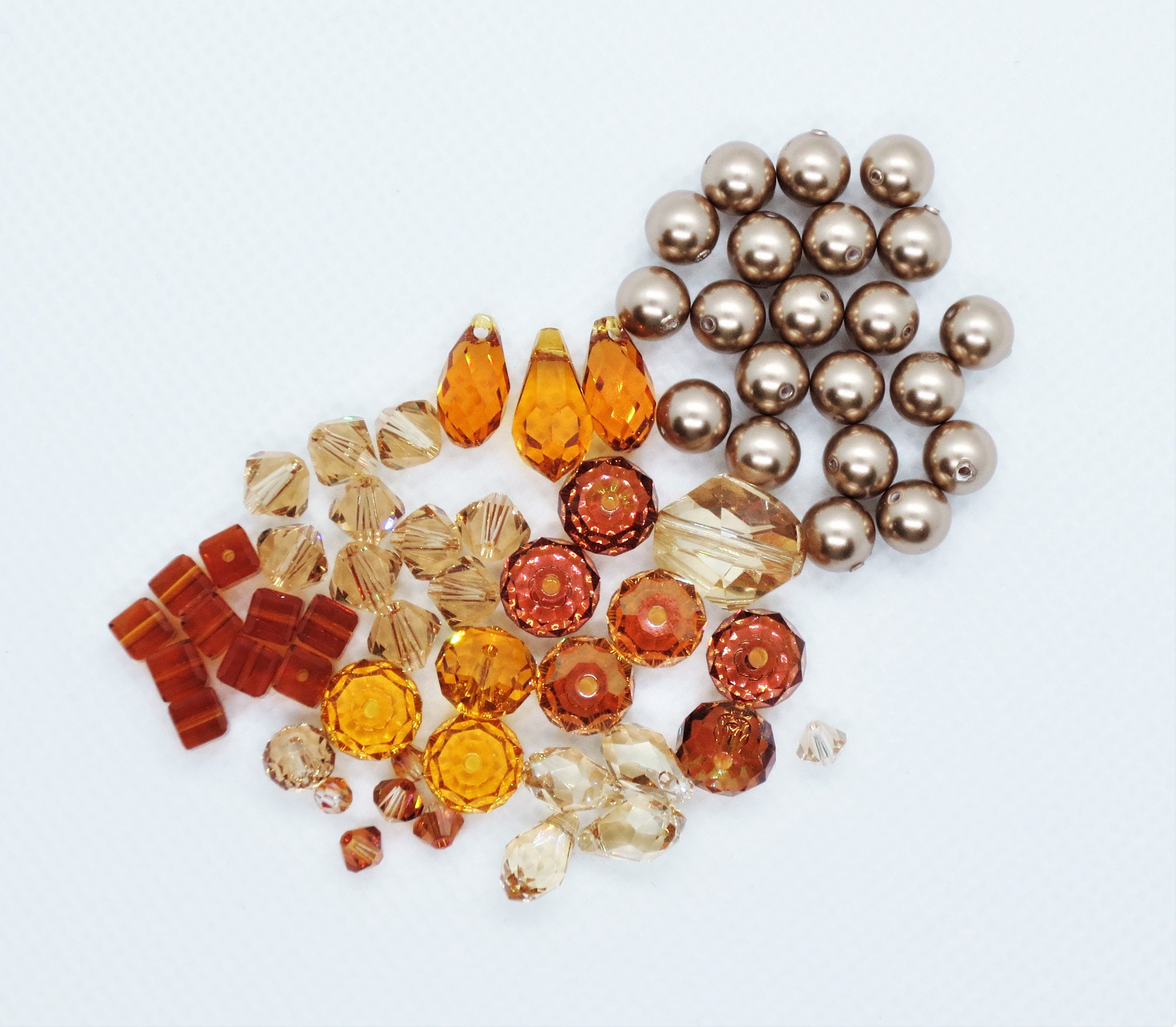 9a50c68a2f89 Wholesale Lot Swarovski Crystals and Pearls Topaz Finish