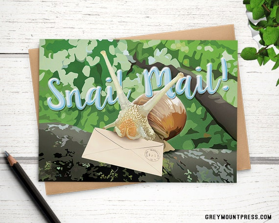 Snail mail card funny greeting cards funny greeting card for etsy image 0 m4hsunfo