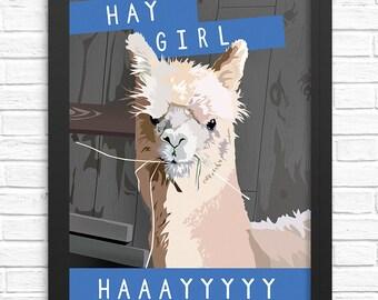Alpaca Wall Art. Funny Art Print. Unique Gifts for Women. Alpaca Wall Art. Llama Gifts for Her. Alpaca Art Prints. Alpaca Print Alpaca Decor