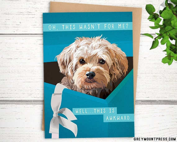 Cooper Funny Dog Birthday Card Oh This Wasnt For