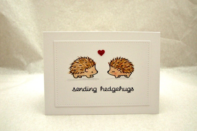 Hedgehog Card Birthday Anniversary