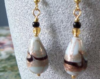 Goldust Swirl Drop Earrings