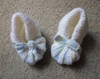 Shoes - Handknitted Baby Shoes - 12 - 18 Month
