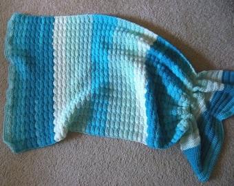 Snuggle Sack Mermaid - Crochet Mermaid Snuggle Sack for Toddler - 28 x 35 inches
