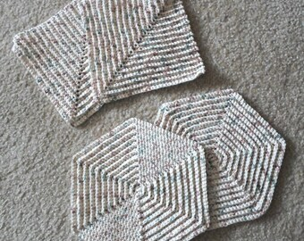 Hotpads and Potholder - Set of two Crochet Potholder and two Crochet Hotpads